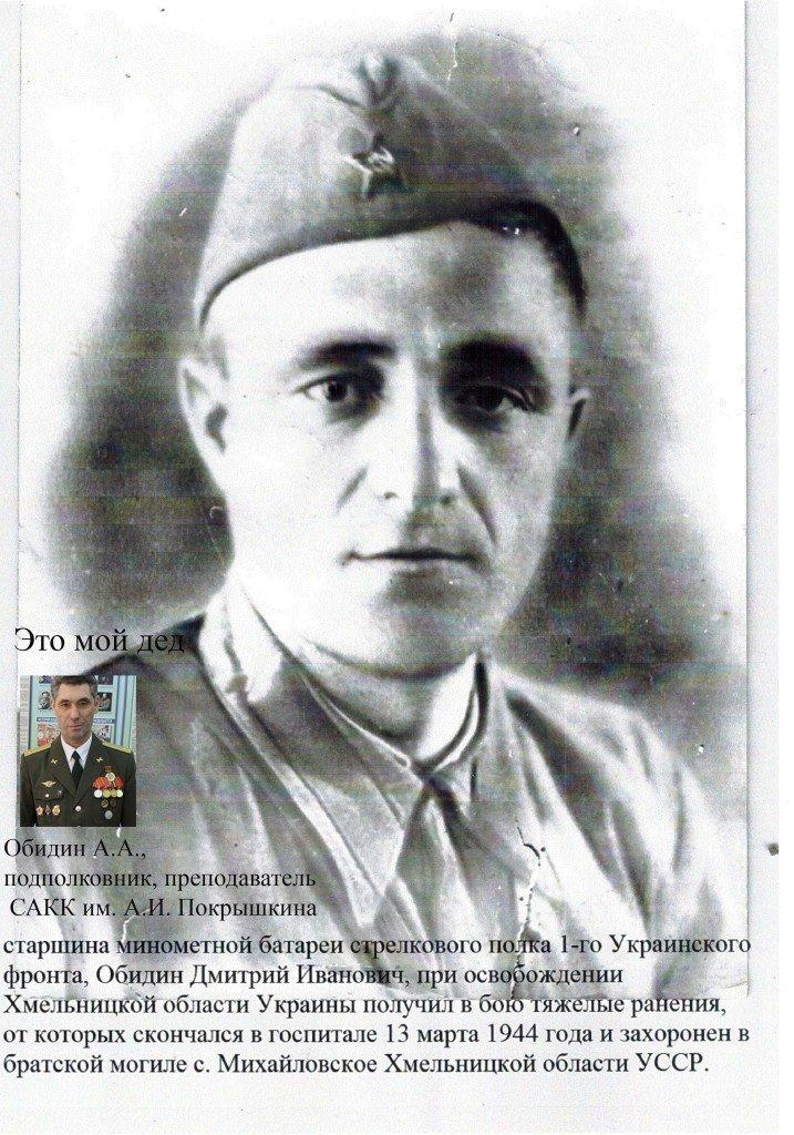 Обидин Дмитрий Иванович